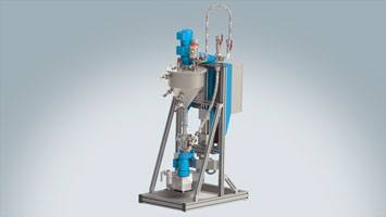 Preparation and supplying system for liquid materials ViscoTreat-Inline